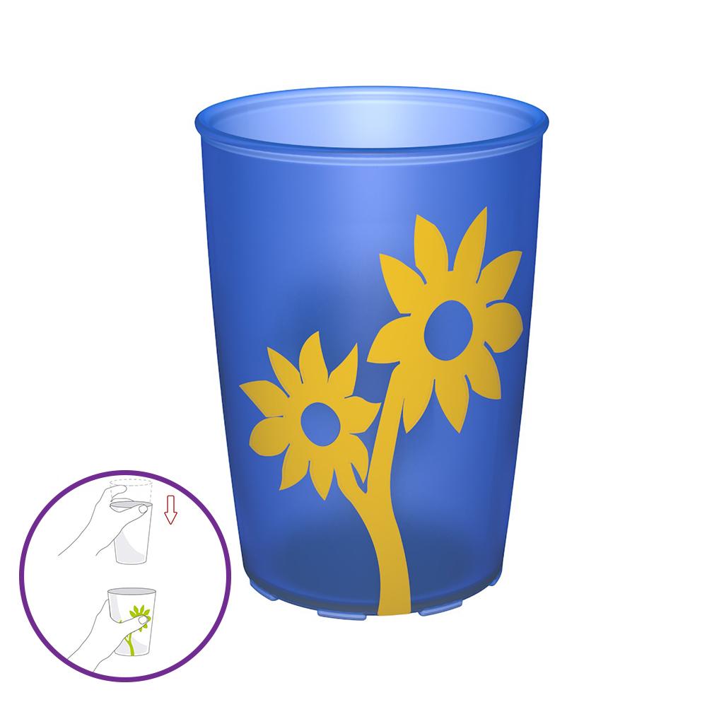 Becher mit Antirutsch-Blume 220 ml / M820