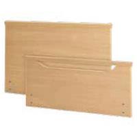 Primus-Low = 1x Kopfteil geschlossen mit Massivholzleiste / 1x Fussteil mit niedriger offener Griff und Massivholzleiste