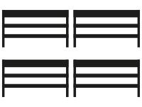 geteilte Sicherungen 4 von 4 Elementen