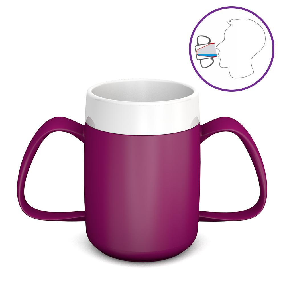 2-Henkel-Becher mit Trink-Trick 140 ml / M815