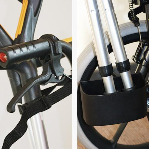 Krücken- & Stockhalter für Rollstühle