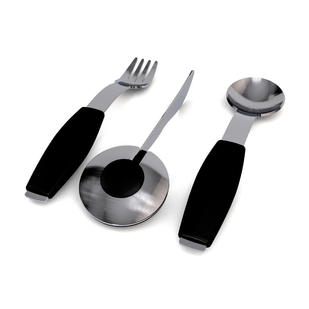 Besteck-Set, 1 Messer, 1 Gabel, 1 Löffel / M980