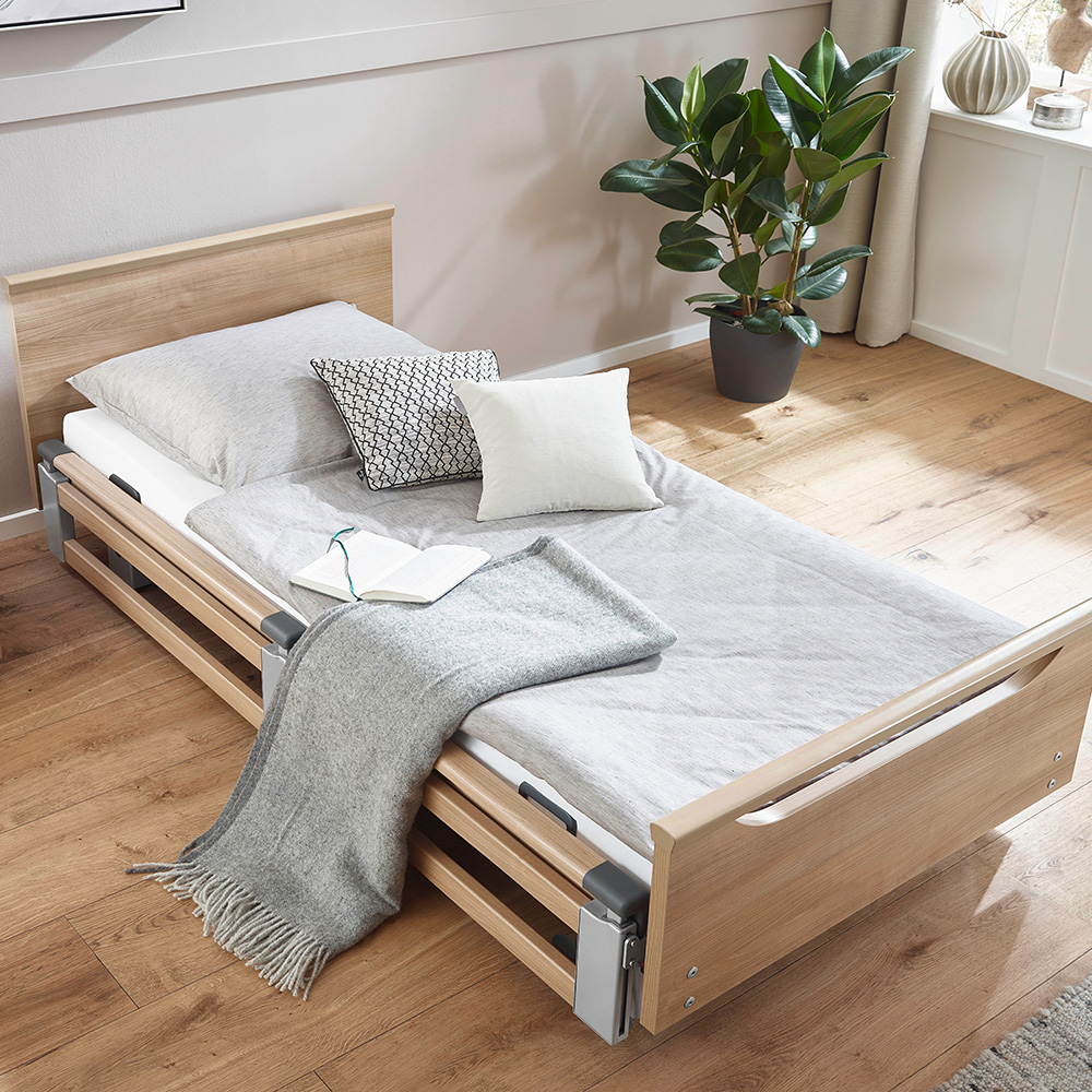 Burmeier Bett REGIA mit Holzdekor