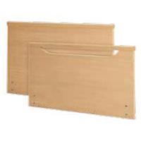 Primus = 1x Kopfteil geschlossen mit Massivholzleiste / 1x Fussteil mit offener Griff- und Massivholzleiste