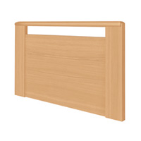 Prinzino = 1x Kopfteil / 1x Fussteil beide mit offener Griffleiste aus Massivholz