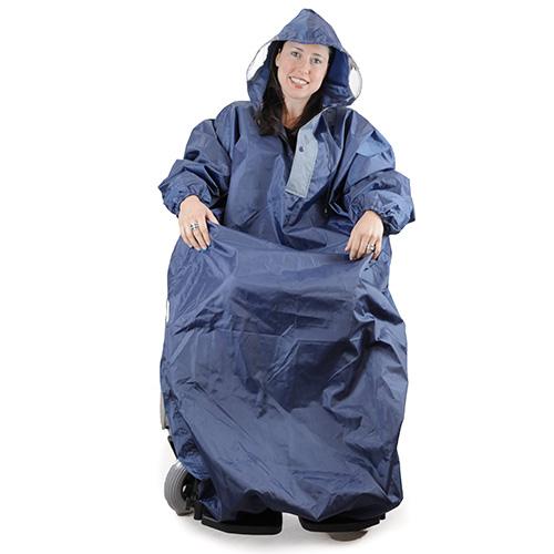 Rollstuhl-Regenschutz mit Ärmel