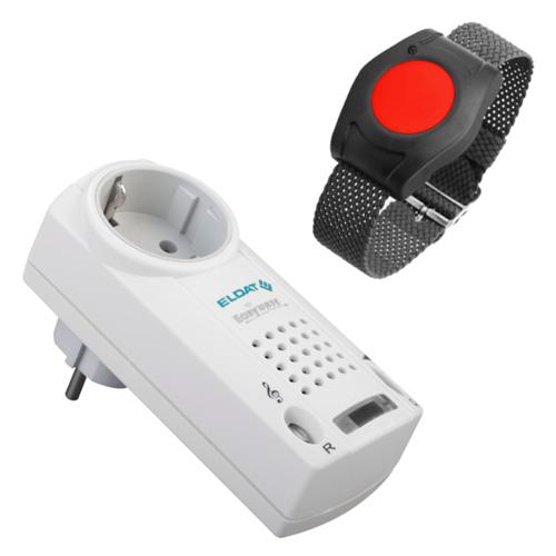 Pflegeruf-Set: Notruf Armband und Steckdosen-Rufmelder